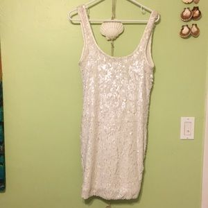 Arden B Dresses - ARDEN B off white Sequence dress